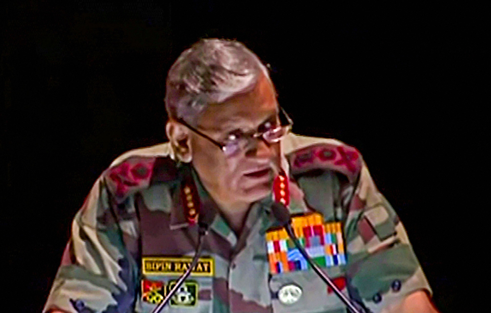 Rawat at the K.M. Cariappa Memorial lecture.