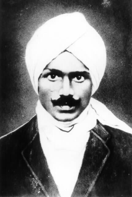 A sketch of Subramania Bharati
