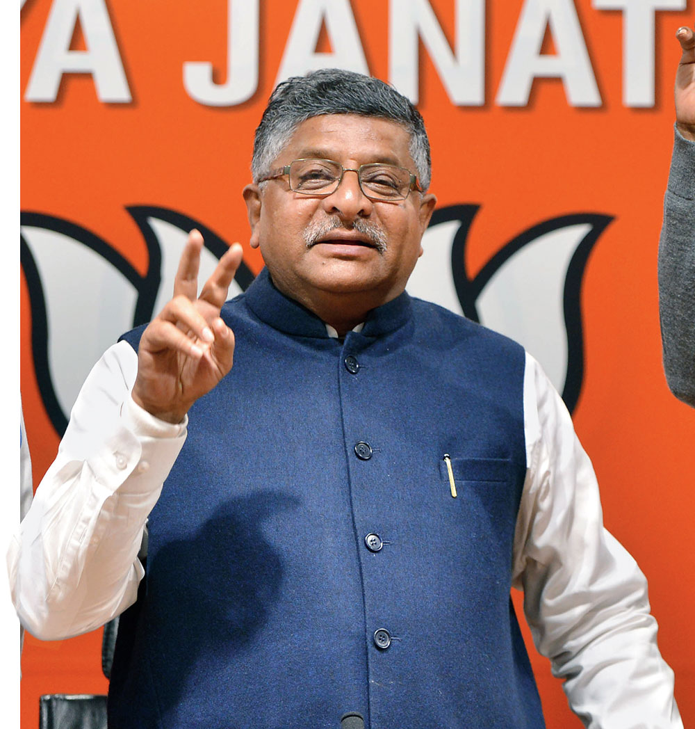 Ravi Shankar Prasad has assumed the role of the BJP's key spokesperson