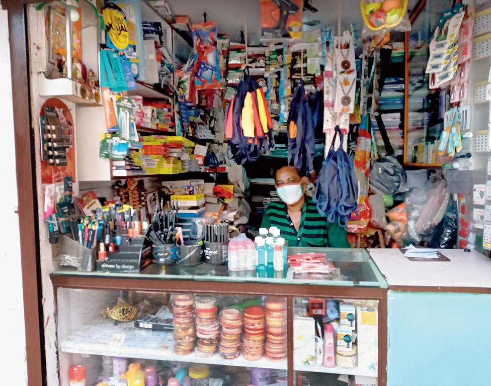 A stationery shop in Purbachal that opened on Saturday.
