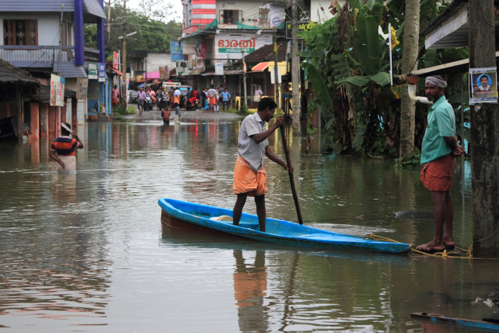 Three have died in Kerala, which last year lost more than 480 people to its worst flooding in a century, and the army has launched rescue missions in Wayanad.