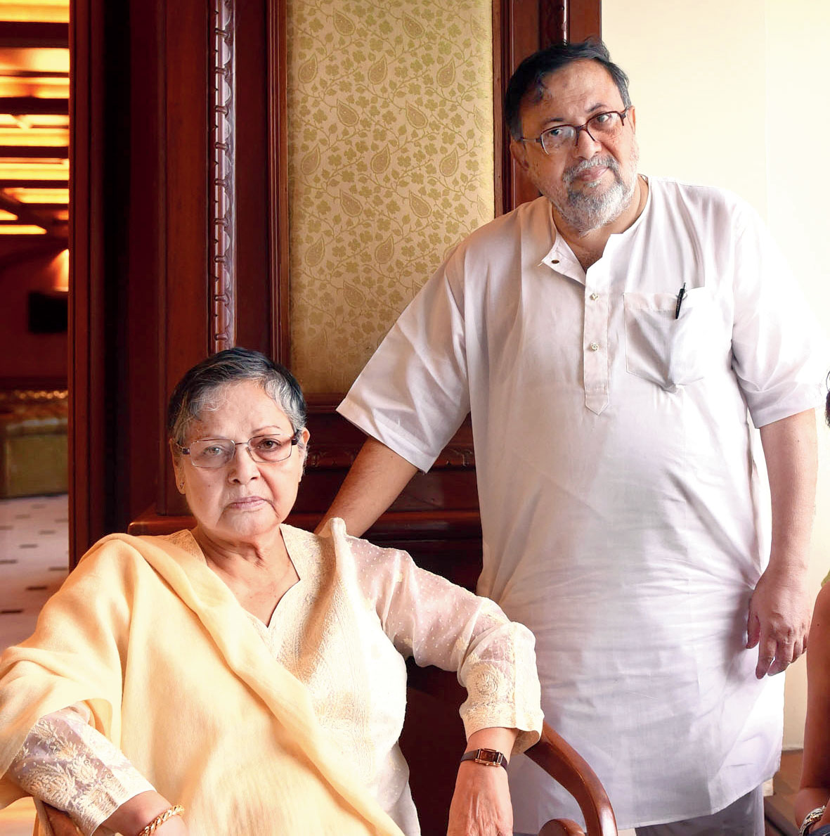 Rakhee with Gautam Halder