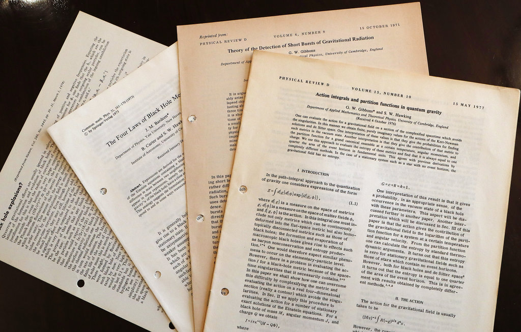 Documents and files belonging to Stephen Hawking.
