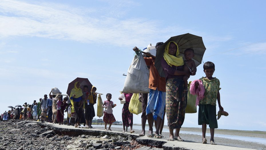 """More than 730,000 Rohingya fled Myanmar to Bangladesh in 2017 to escape a military-led crackdown that UN investigators have said was carried out with """"genocidal intent"""" and included mass killings and rapes."""