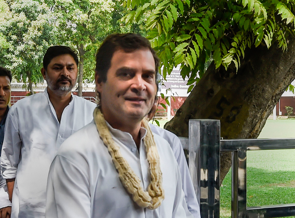 "Rahul Gandhi on his birthday on Wednesday, June 19, 2019. Following the ""Chowkidar chor hai"" controversy during the election campaign, he admitted his mistake before the Supreme Court and expressed regret. That was found to be insufficient, and a proper apology followed."