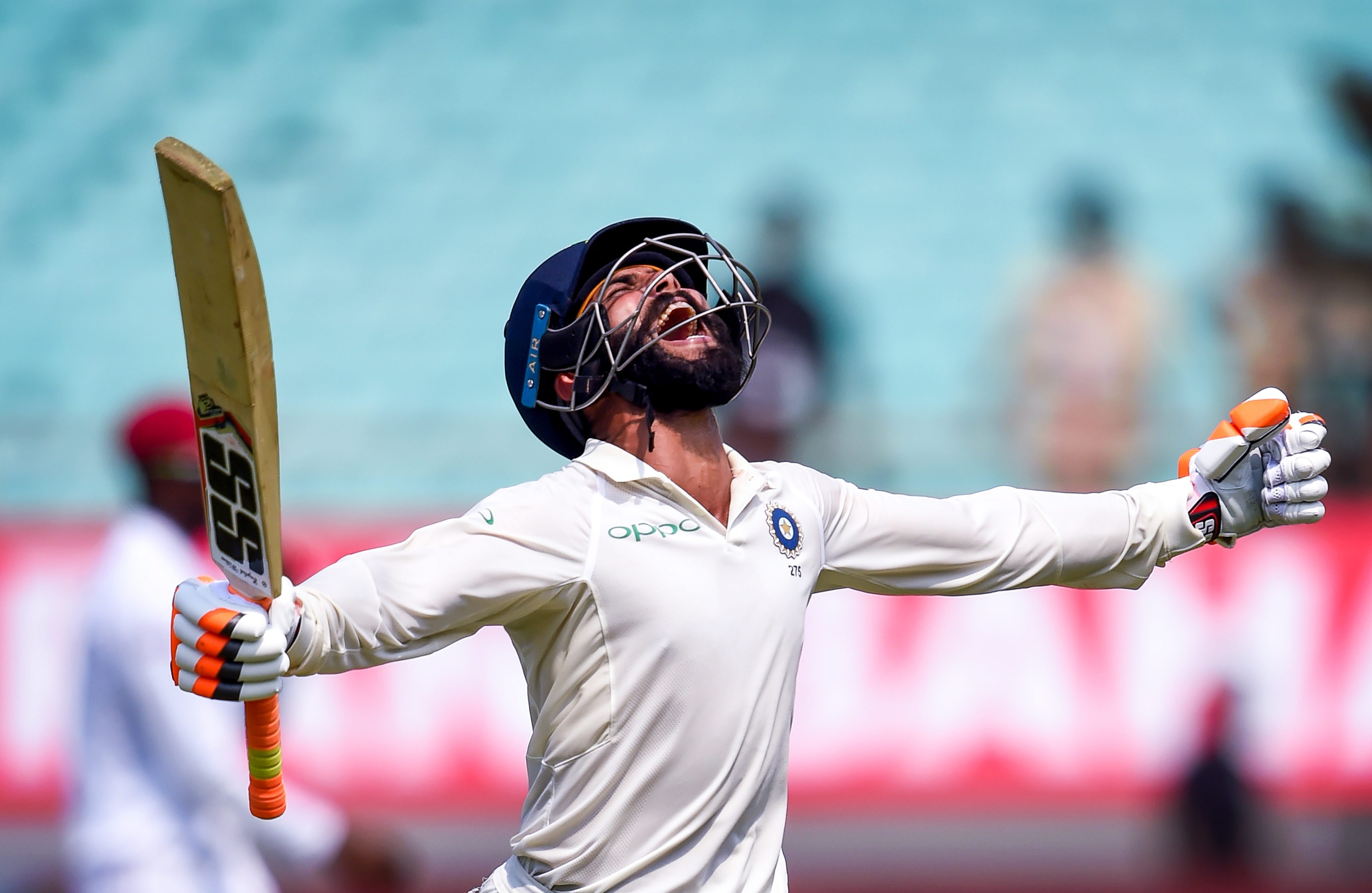 Aided by Ravindra Jadeja (batting on 60), Mayank blazed away and even after his dismissal, India maintained the tempo.