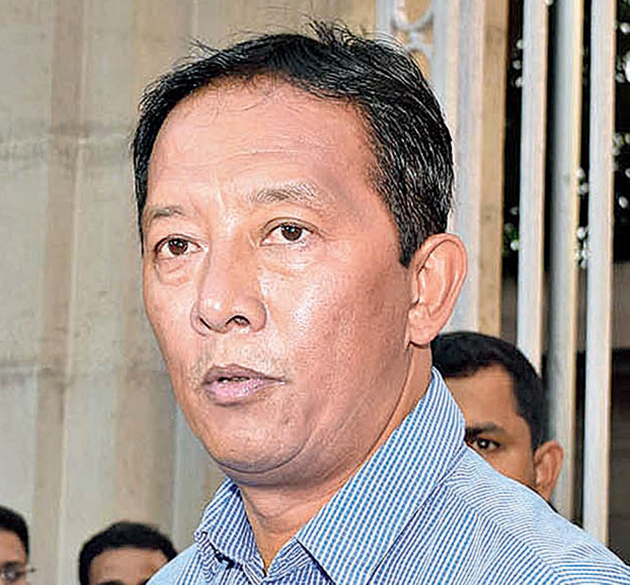 The development came days after 17 out of 30 municipal councillors had switched to the BJP from the Gorkha Janmukti Morcha's Binay Tamang (in picture) faction