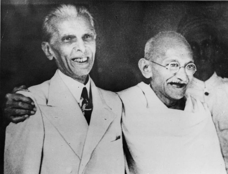 Jinnah and Gandhi in 1944