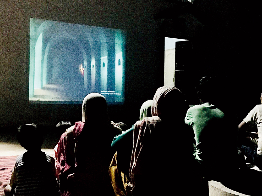 Collective step: The documentary 'Printed Rainbow' being screened in Kandhla earlier this year