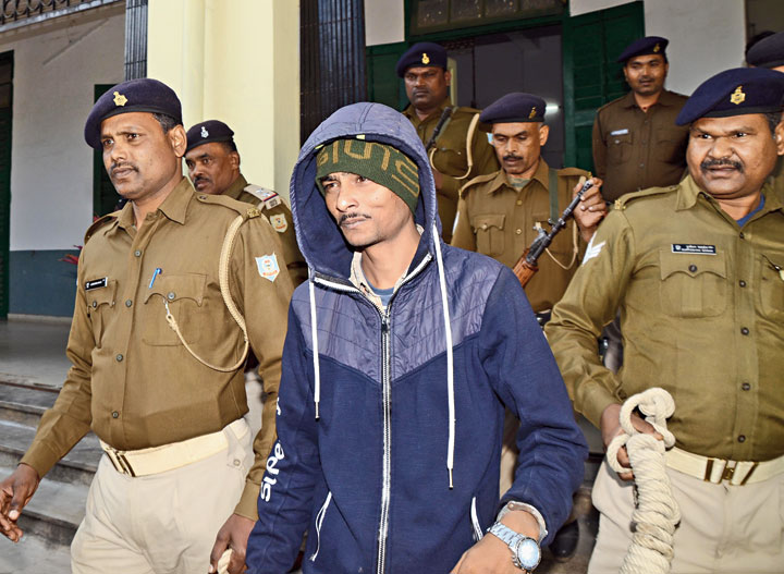 Rahul Raj comes out of the court in Ranchi after the verdict on Saturday.