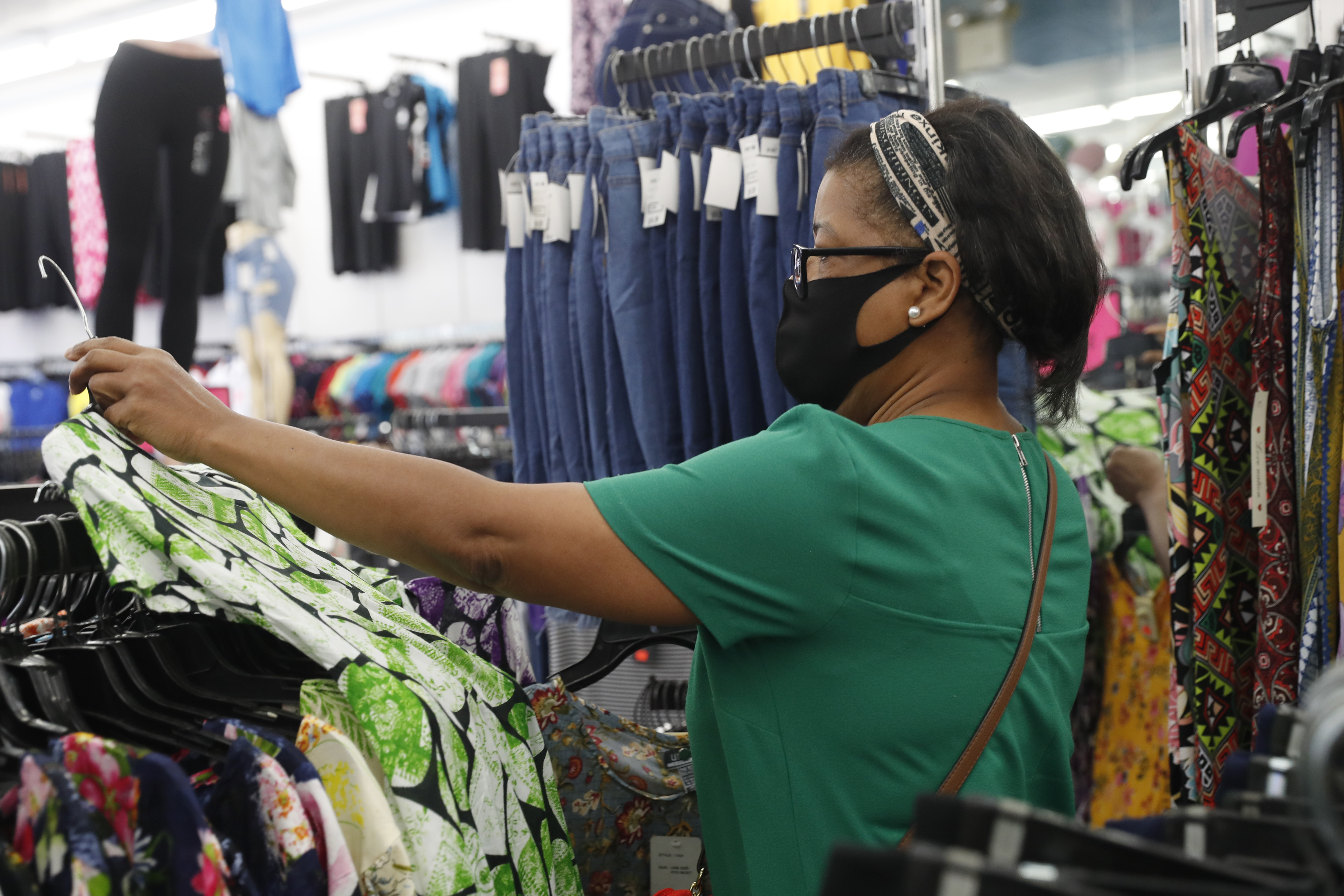 A buyer shops for clothing inside a MiniMax store on Monday