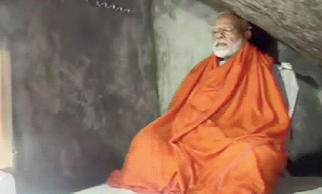 "Amid questions by some social media users whether photographers were also inside the cave, ANI quoted sources as saying: ""Prime Minister Narendra Modi trekked 2 kms to the cave and on request of media allowed cameras to make initial visuals. PM will begin his meditation in a few hours which will last till tomorrow morning. No media or personnel will be allowed in the vicinity of the cave."" This triggered a bigger question: if the Prime Minister ""will begin his meditation in a few hours"", what is the activity he is undertaking in the picture above? The ""holy cave"" has a bedroom, a dining place and a modern toilet. In the ANI picture, Modi is seen sitting on a bed and propped up by a pillow. One Twitter user asked: ""Who meditates on a bed with cushion and pillows?"" Some wondered whether the spectacles would remain in place through the night while Modi meditated. (ANI tweeted the picture above, saying: ""Prime Minister Narendra Modi meditates at a holy cave near Kedarnath Shrine in Uttarakhand."")"