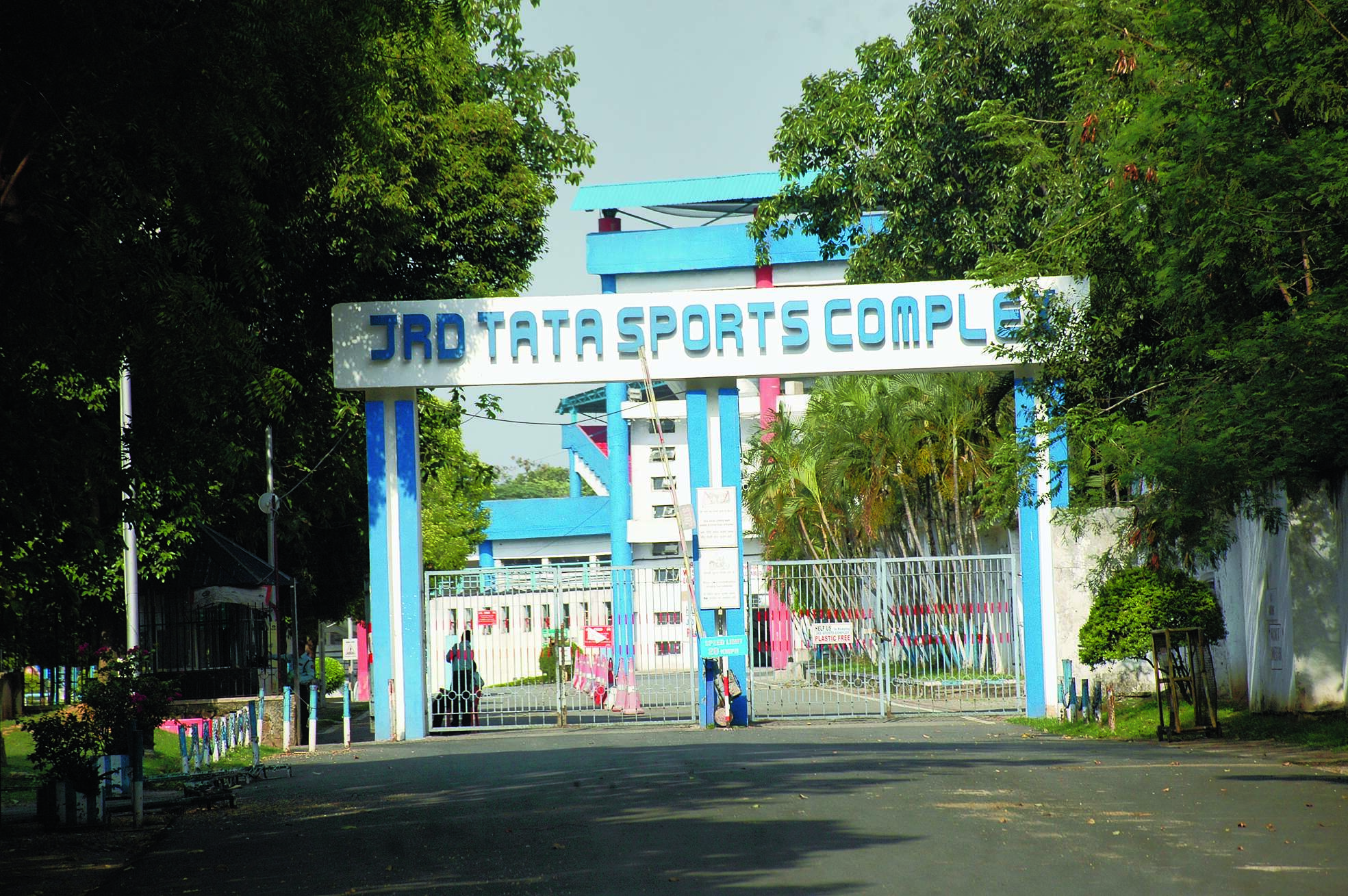 The deserted JRD Tata Sports Complex in Jamshedpur on Saturday.