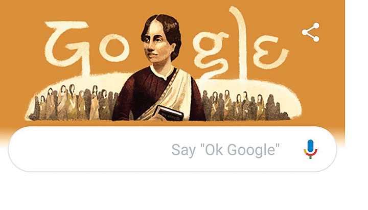 The Google doodle on Kamini Roy on Saturday