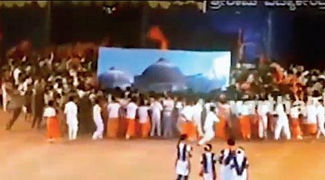 School re-enacts Babri Masjid demolition