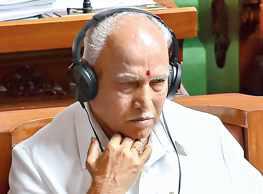 BS Yeddyurappa in the Karnataka Assembly on Monday.