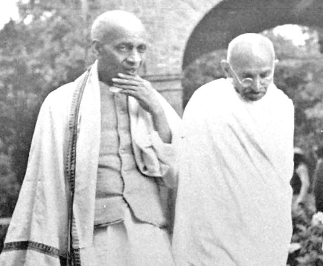 Vallabhbhai Patel and M.K. Gandhi