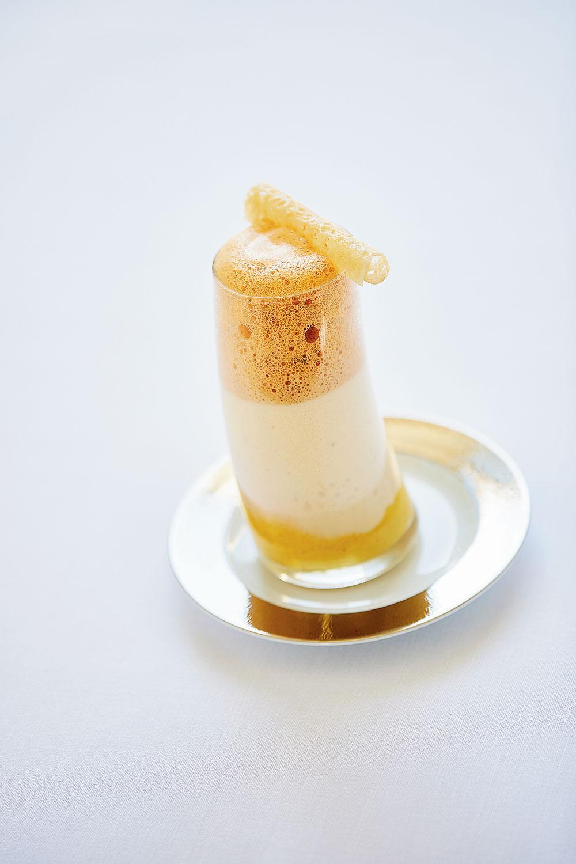 The bouillabaisse milkshake at InterContinental Marseille Hotel Dieu