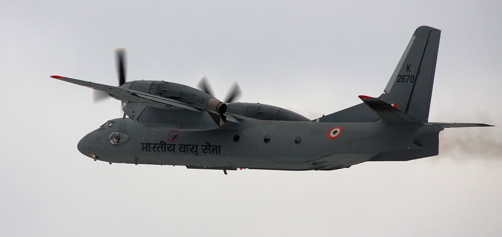 File picture of an Indian Air Force AN-32 transport aircraft.