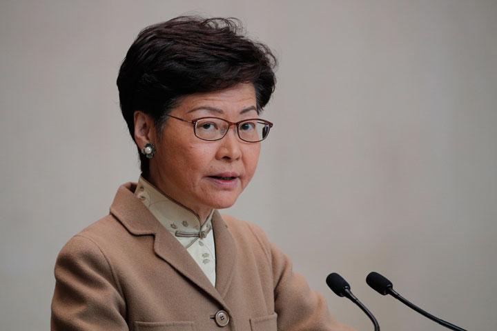 Hong Kong's chief executive Carrie Lam