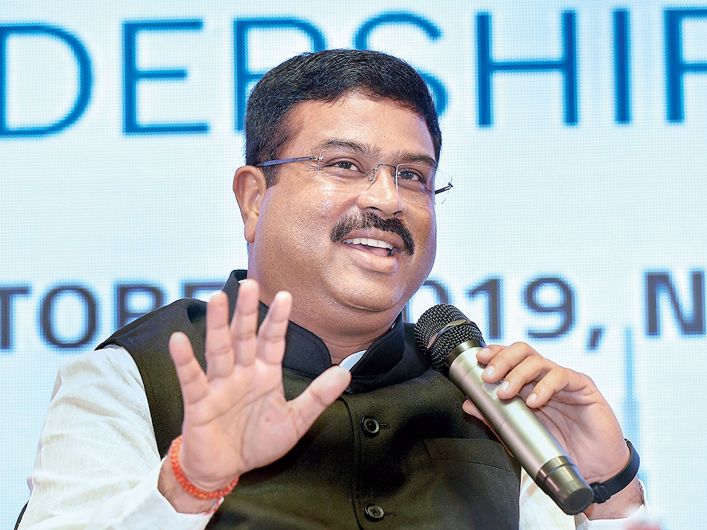 Dharmendra Pradhan in New Delhi on Monday.