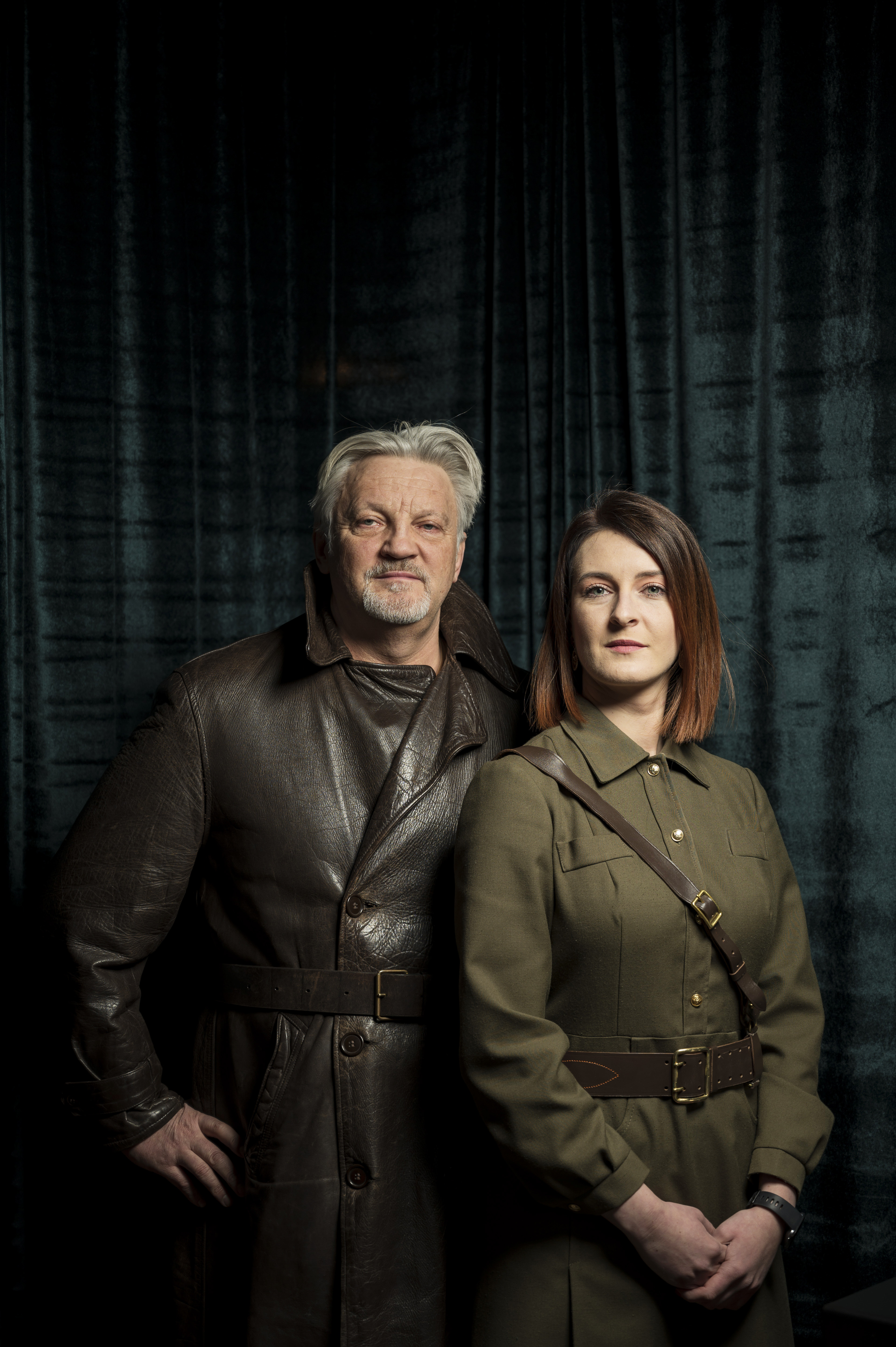The father-daughter duo of Julius Urbaitis and Agne Urbaityte, the curators of the KGB Spy Museum in New York.