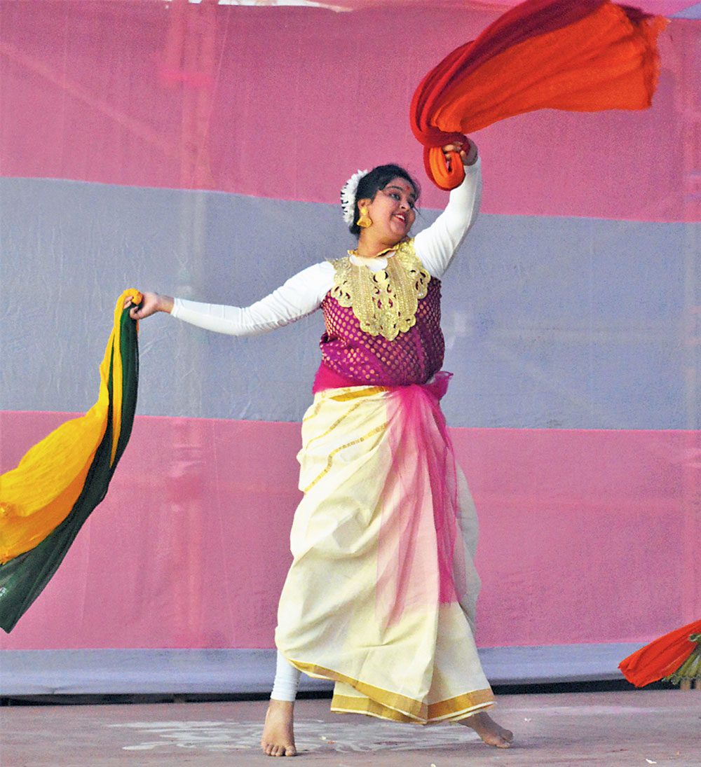 A moment from a dance recital in course of the programme