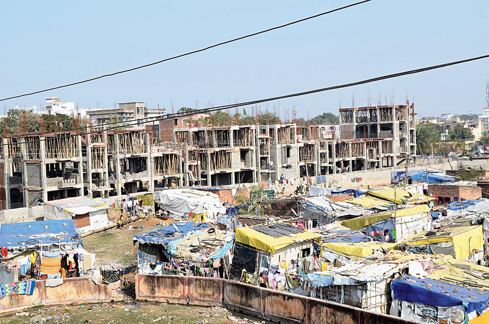Building hope: A drive to verify the bona fides of those evicted will begin for Islam Nagar slum in Ranchi from Wednesday.
