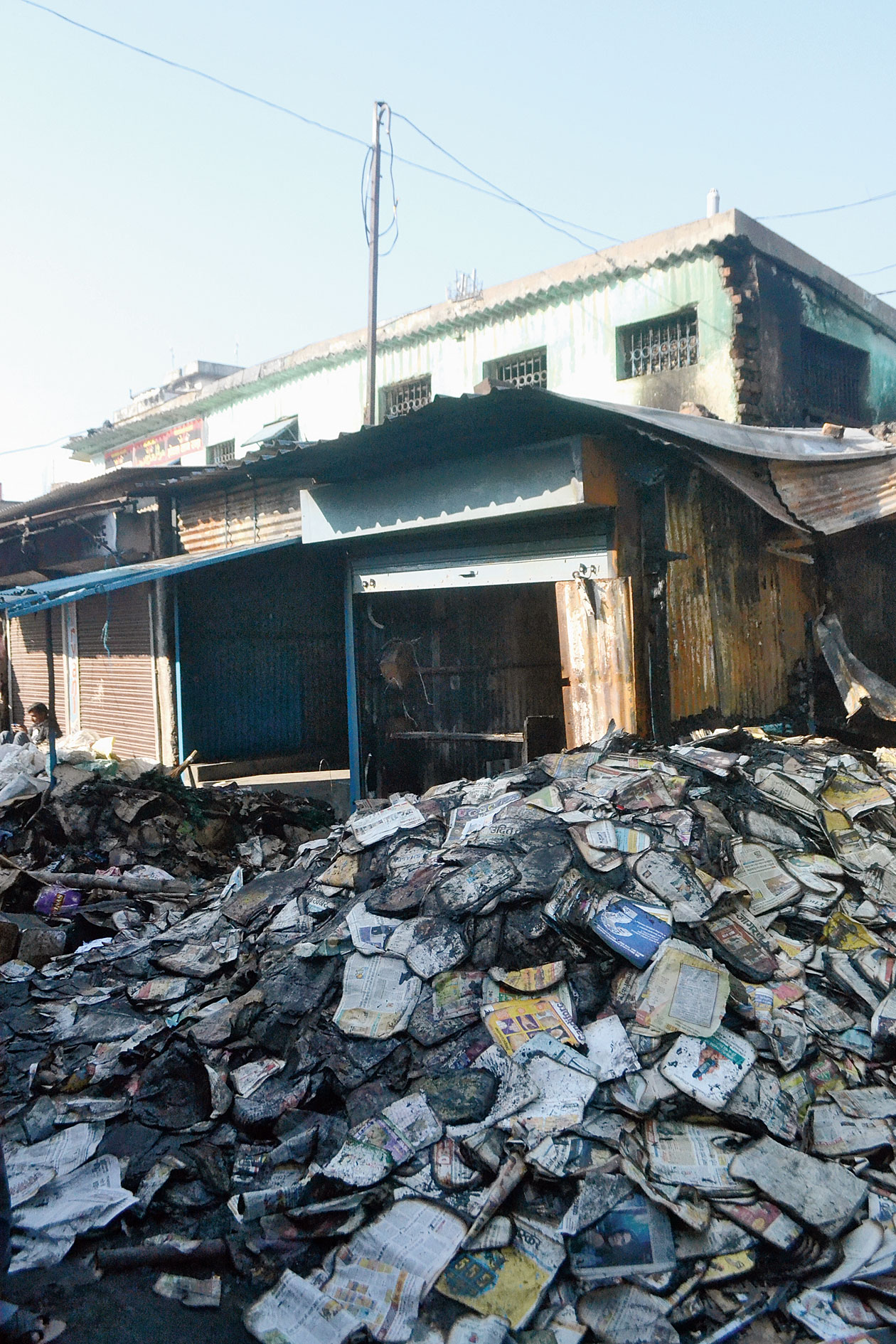 The gutted shops in Tin Shed market in Sakchi, Jamshedpur, earlier this month.
