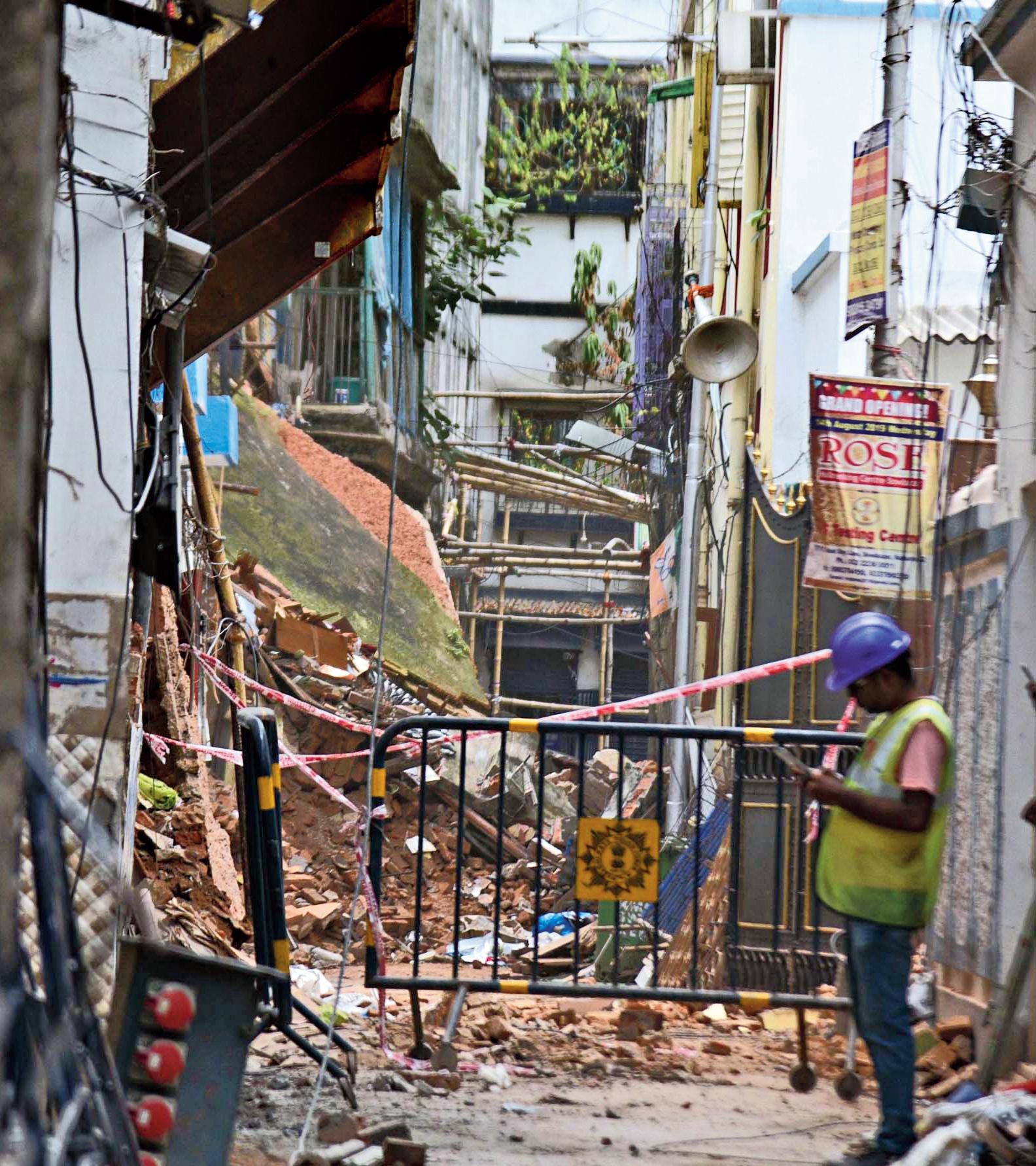 Durga Pituri Lane on Sunday.