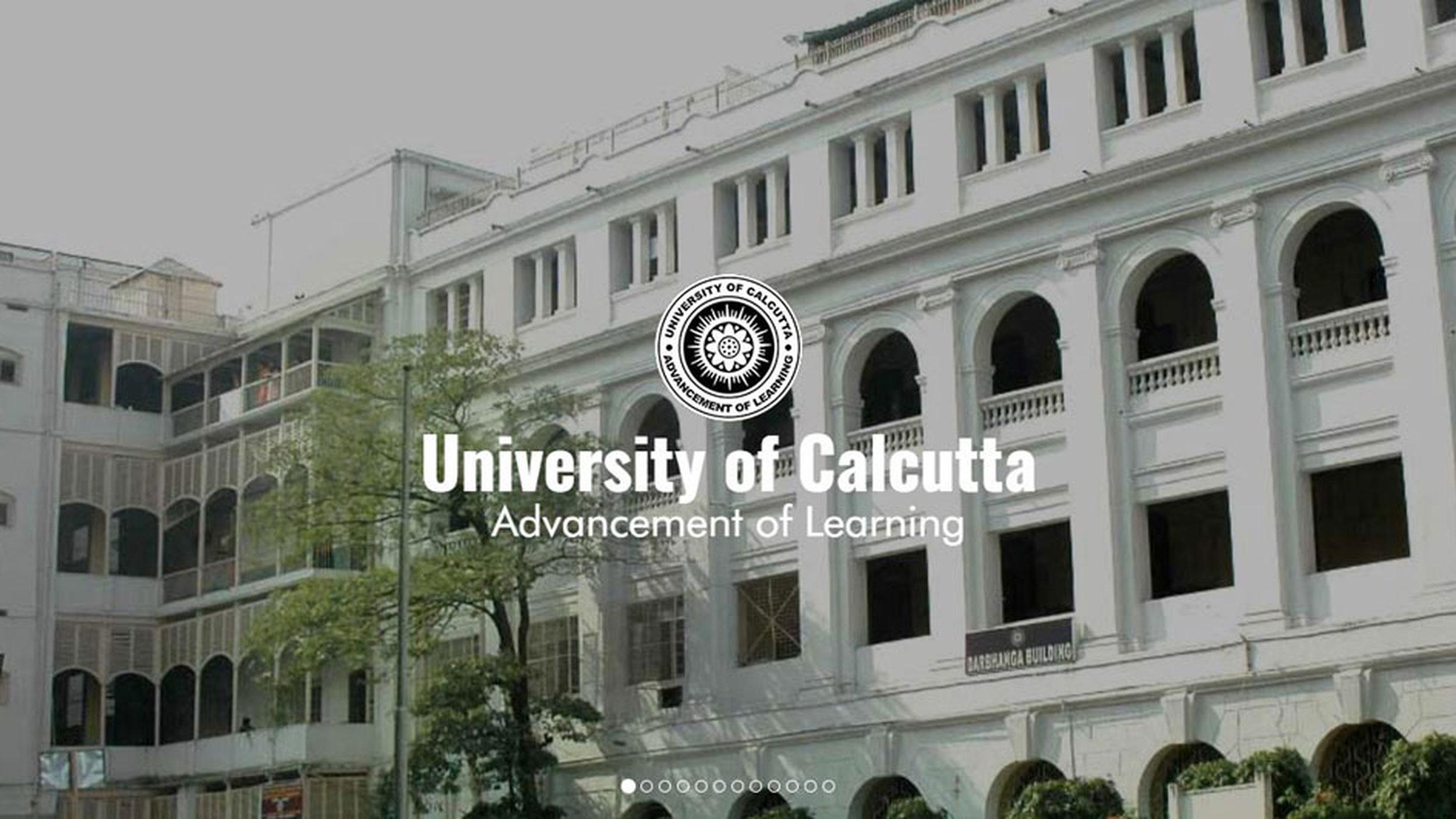 Screengrab of Calcutta University website