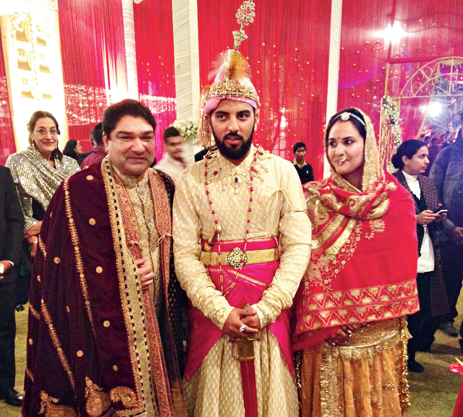 Umang with MK Lakshyaraj Singh Mewar of Udaipur and his bride Nivritti Kumari of Odisha.