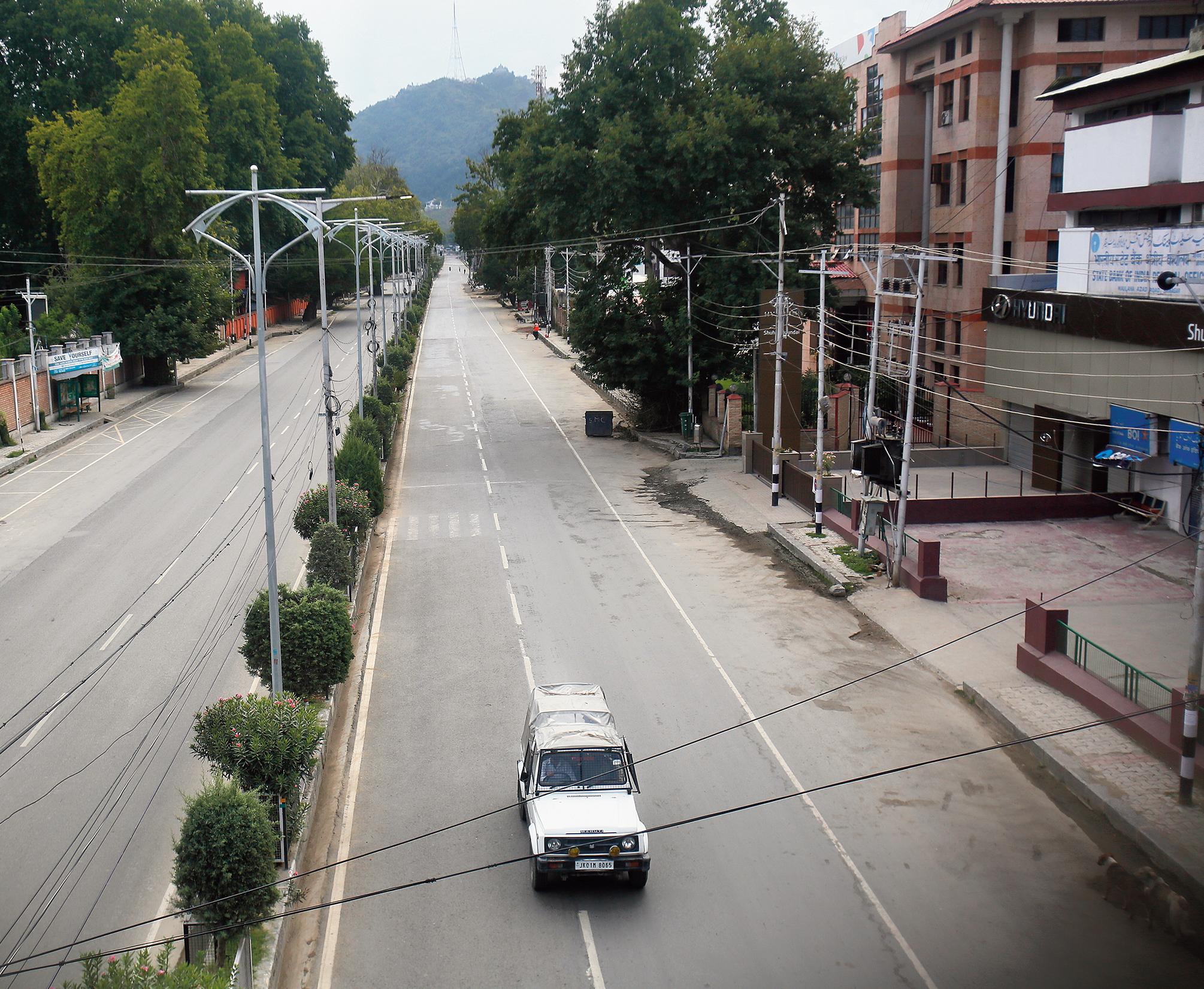 A street in Srinagar on Monday.