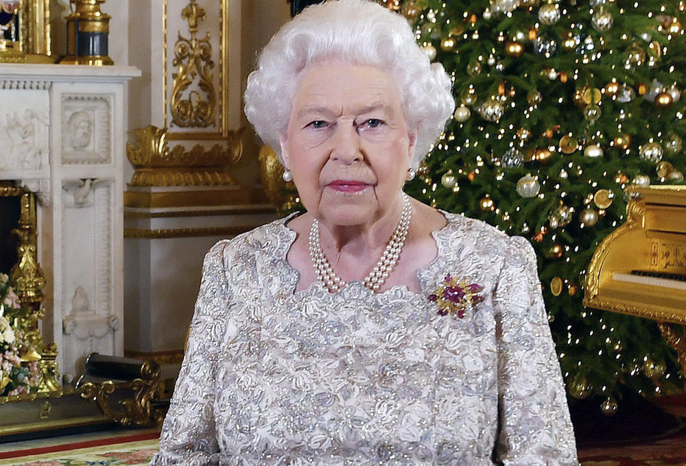 Britain's Queen Elizabeth after she recorded her annual Christmas Day message, in the White Drawing Room of Buckingham Palace, London, on December 25, 2018