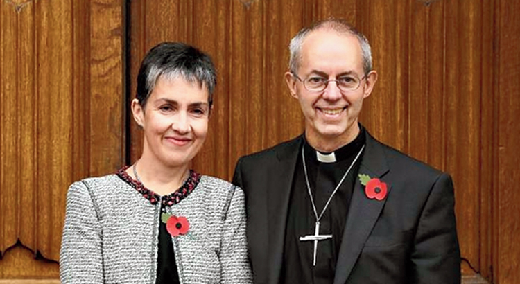 Archbishop Welby with wife Caroline