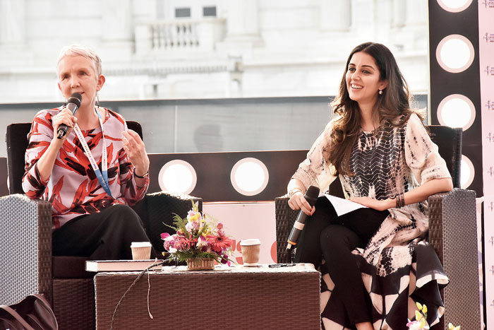 Ann Cleeves was in conversation with Neha Hiranandani for a session titled Murder Well Done at Victoria Memorial as a part of the Kolkata Literary Meet on January 22.