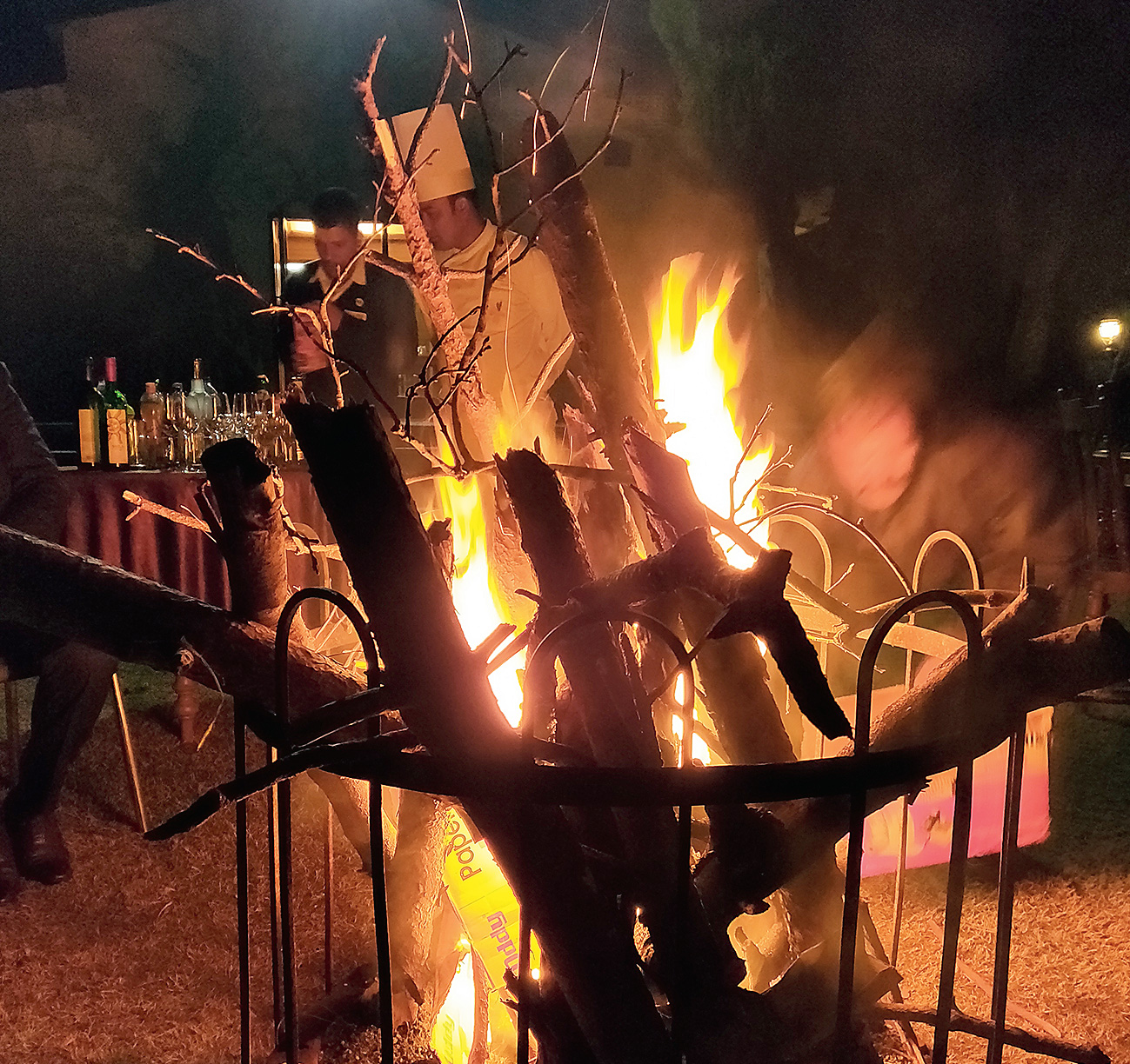 Spooky stories and delicious dinner by the bonfire made for a memorable evening
