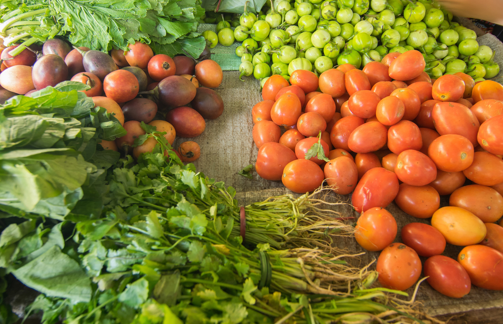 Organic green vegetables , agricultural products of Sikkim