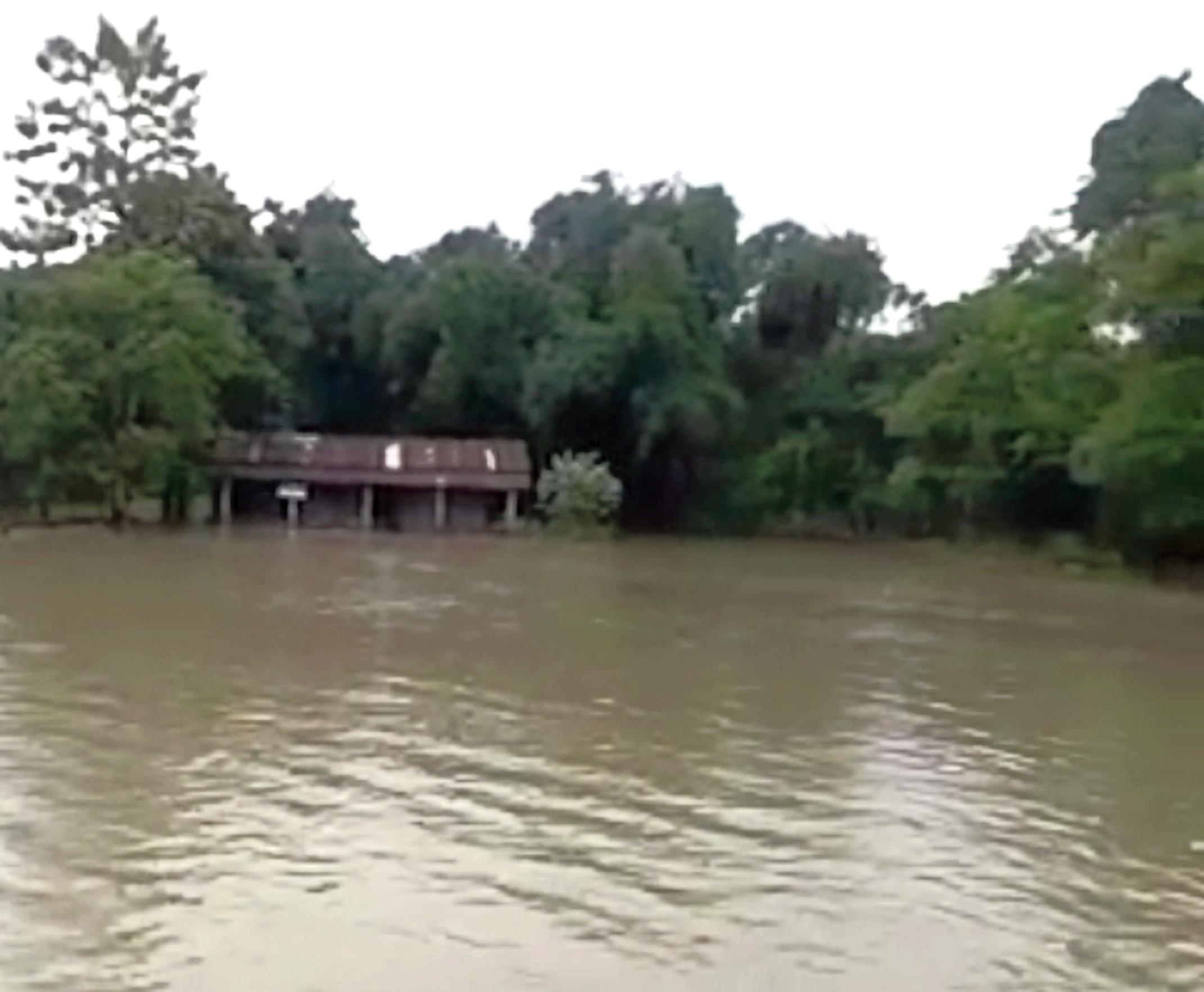 An inundated school in Dhemaji.