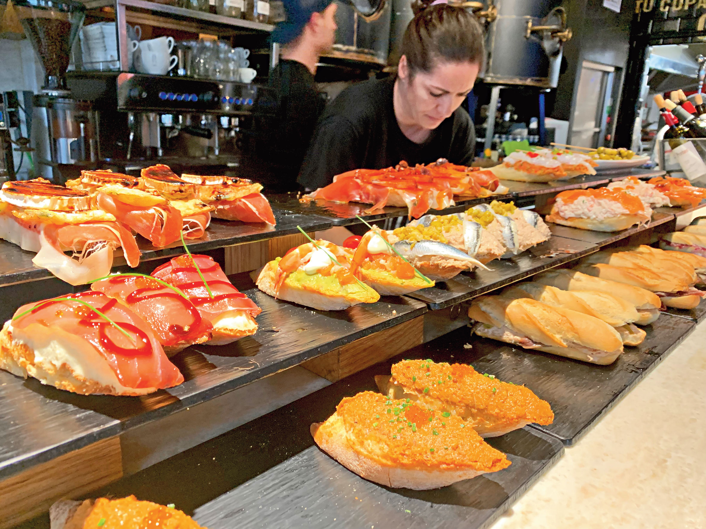 San Sebastian and the area around have two distinct food cultures — a notable amount of fine-dining and award-winning restaurants and pintxos bars — northern Spain's answer to tapas