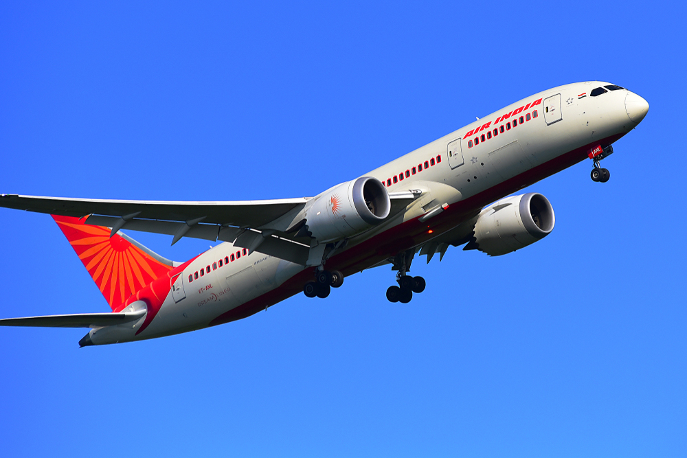 An Air India aircraft. The Calcutta-Dubai flight will be in operation four days a week