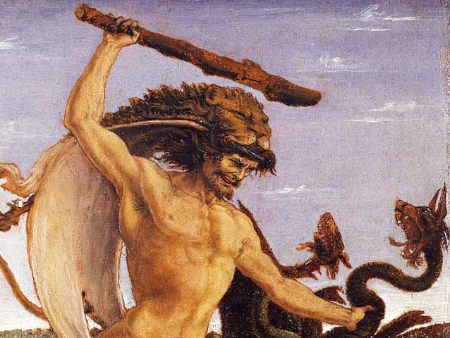 Detail from the painting Hercules and the Hydra (circa 1475) by Antonio del Pollaiuolo