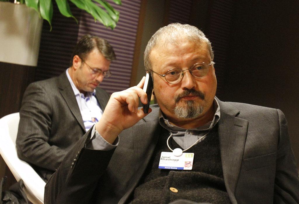 This January 29, 2011, file photo shows Jamal Khashoggi at the World Economic Forum in Davos, Switzerland.