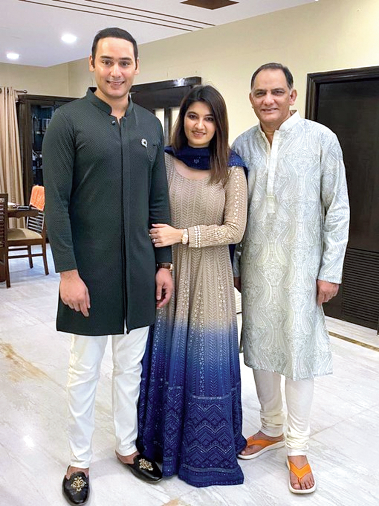 Azharuddin with his family