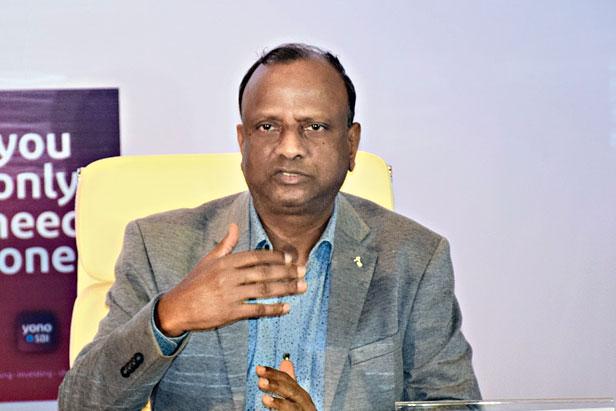 SBI chairman Rajnish Kumar in Calcutta