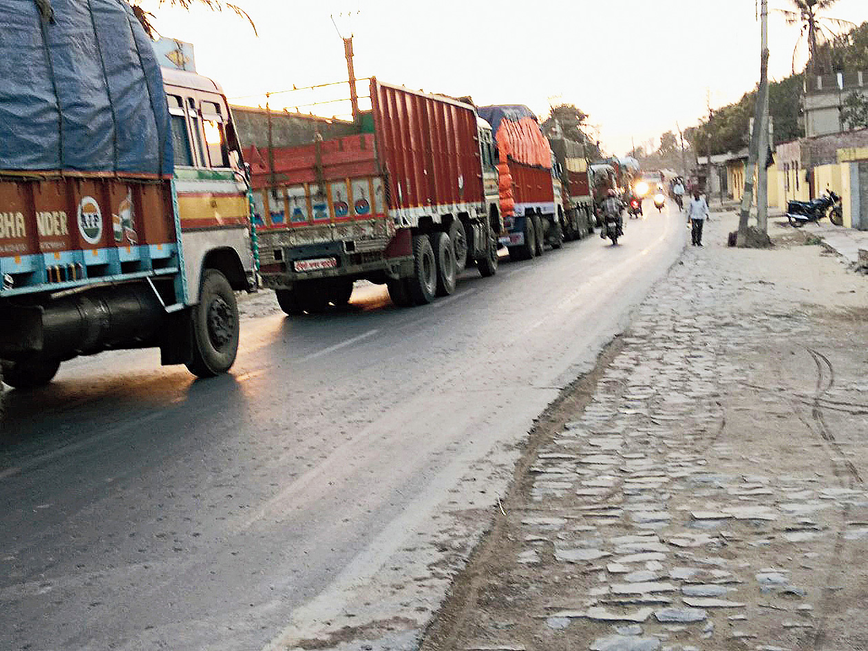 Chief Minister Mamata Banerjee will not allow anything bigger than 4-wheel trucks to ply on rural roads.
