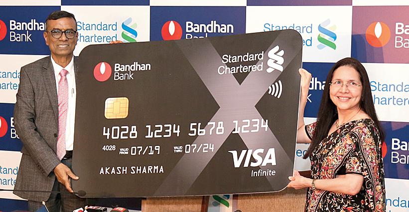 Chandra Shekhar Ghosh with Zarin Daruwala in Calcutta on Friday.