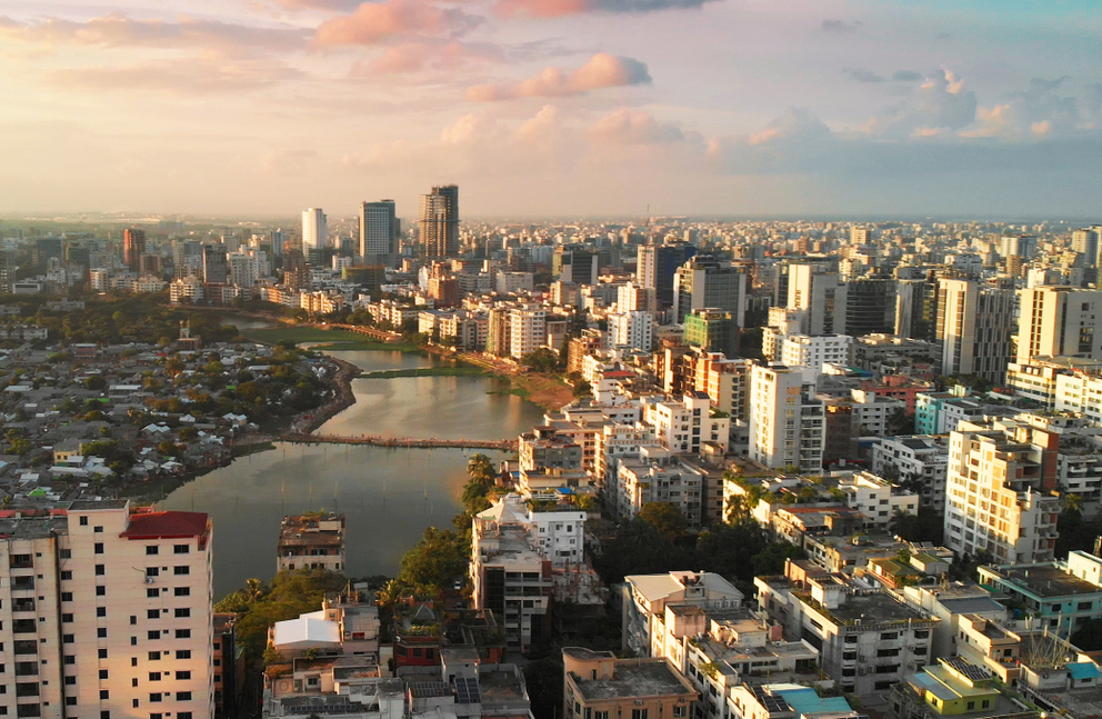Dhaka, capital city of Bangladesh. With over 100 million citizens under the age of 30, Bangladesh has immense growth potential, but the test lies in effectively employing the young workforce.