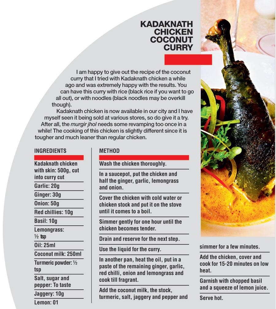 Kadaknath chicken recipe