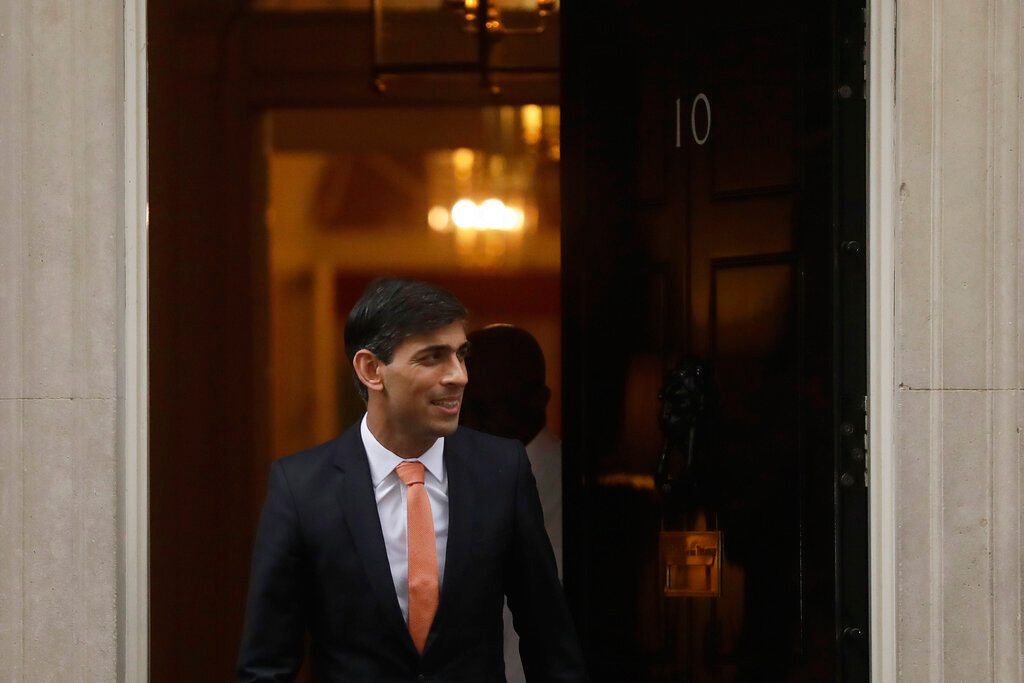 Rishi Sunak leaves 10 Downing Street on Thursday